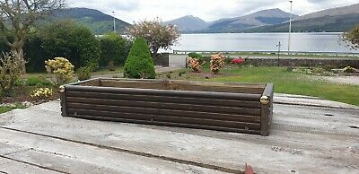 Wooden Garden/Window Herb Planter Treated Tanalised Timber Handcrafted In Argyll • 26.99£