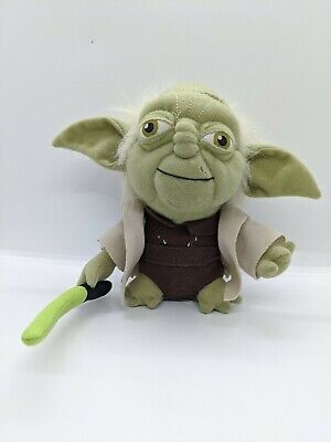 "AU12.59 • Buy Star Wars Lucasfilm Plush Stuffed Yoda W/Light Saber 7"" Toy"