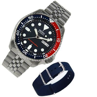 $ CDN426.51 • Buy Seiko Automatic Stainless Jubilee SKX009 SKX009K2 Divers Watch EXTRA Nylon Band