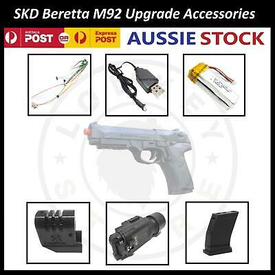 AU33.99 • Buy SKD Beretta M92 Gel Blaster Upgrade/Replacement Parts HopUp Mosfet Torch Battery