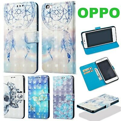 AU12.99 • Buy OPPO R9S R11 A59 F1S A57 Glossy Shine Pattern Wallet Flip Leather Case Cover