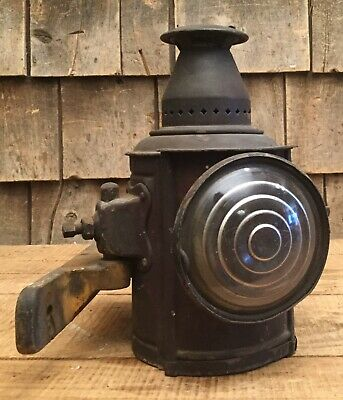 Rare Antique ADLAKE RR Train Carriage Car Signal Lantern Lamp Light W Bracket • 157.73£