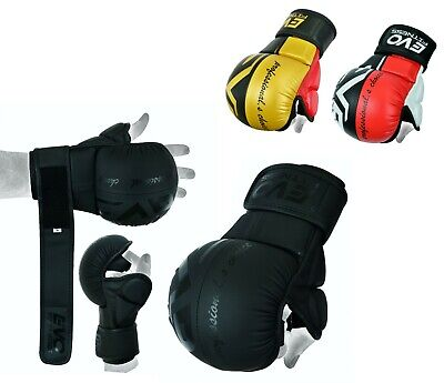 $ CDN22.28 • Buy EVO MMA Gloves Kick Boxing Sparring Grappling Cage Fight Martial Arts Training
