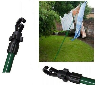 £6.44 • Buy 2.4m Galvanised Washing Line Prop Outdoor Extendable Heavy Duty Line Support Rod