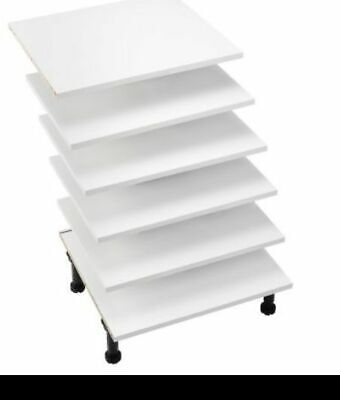 WHITE B&Q KITCHEN UNIT CABINET 300mm Larder Shelf Pack Includes 4 Shelves  • 5£