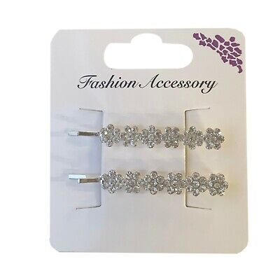 2 Pc HAIR GRIP DIAMANTE. HAIR CLIP. HAIR ORNAMENT. FREE POSTAGE ****** • 2.95£