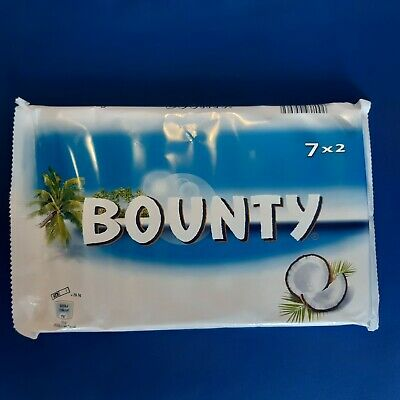 Bounty Coconut Milk Chocolate  X 7 Bars NEW SHIPS WORLDWIDE • 4£
