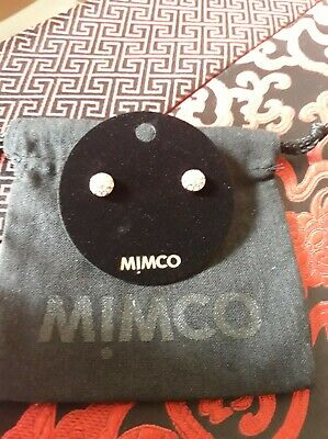 AU29.99 • Buy Mimco Mini Crystal Rosegold Dome Earrings New Rrp $39.95 Free Postage Authentic