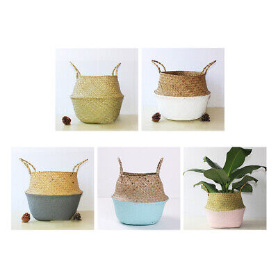 Handmade DIY Durable Straw Basket Seaweed Woven Cosmetic Storage Basket Hot Sale • 5.68£