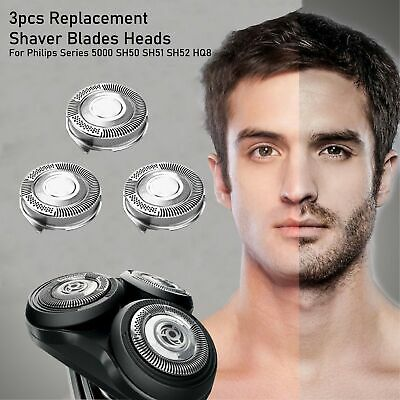 AU13.68 • Buy 3pcs Replacement Shaver Blades Heads For Philips Series 5000 SH50 SH51 SH52 HQ8