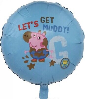 George PIG 18  FOIL BALLOON Boys & Girls Air Or Helium Party Decoration • 1.99£