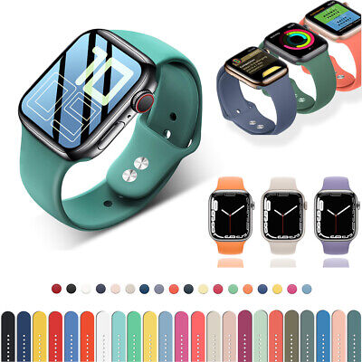 $ CDN4.87 • Buy 38/40/42/44mm Silicone Sport IWatch Band Strap For Apple Watch Series 6 5 4 3 SE