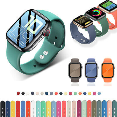 $ CDN4.96 • Buy 38/40/42/44mm Silicone Sport IWatch Band Strap For Apple Watch Series 6 5 4 3 SE