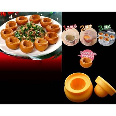 Plastic Rice Cup Bento Mold Sushi Maker Mould Set Food Home Gadget Mold LH • 4.11£