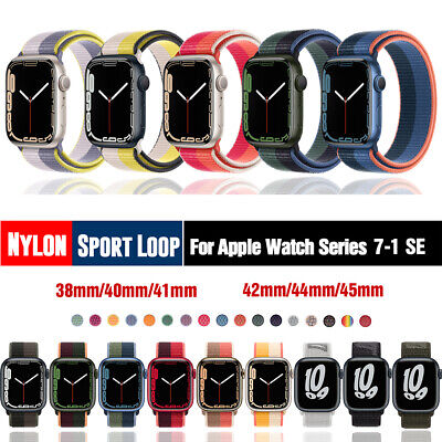 $ CDN5.20 • Buy 40/42/44mm Nylon Sport Loop IWatch Band Strap For Apple Watch Series 6 5 4 3 SE