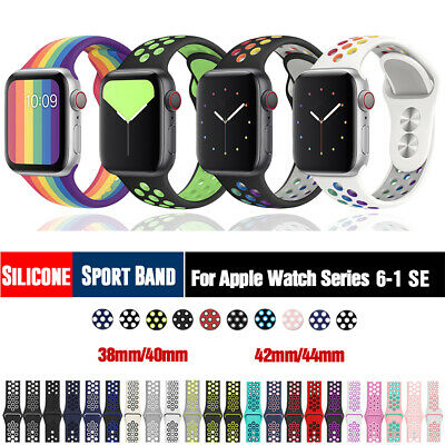 $ CDN6.33 • Buy 40/44/38/42mm Silicone Sport Band Strap For Apple Watch SE IWatch Series 6 5 4 3