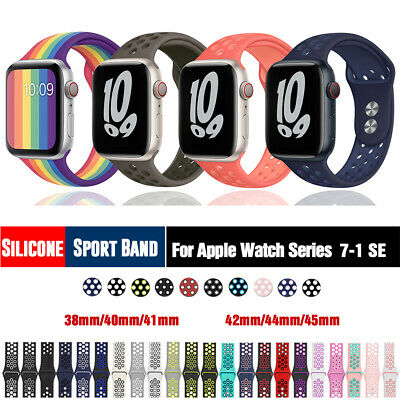 $ CDN6.22 • Buy 40/44mm 38/42mm Silicone Sports IWatch Band Strap For Apple Watch Series 5 4 3 2