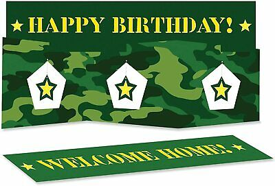 $2.59 • Buy Military Camo Party Supplies Stand Up Centerpiece Birthday Or Welcome Home