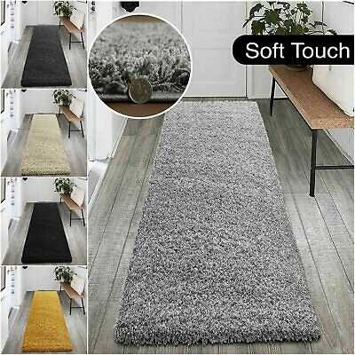 Anti Slip Plain Shaggy Rugs Long Hallway Runner Rug Living Room Area Carpet Rugs • 16.99£