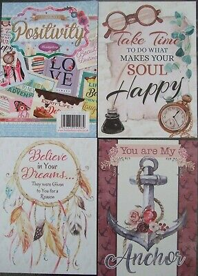 Hunkydory 24 Mix Card Toppers  Positivity  See Pictures See Description • 2.75£
