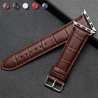 $ CDN6.06 • Buy 38/42/40/44mm IWatch Leather Band Wrist Strap For Apple Watch Series 6 5 4 3 SE