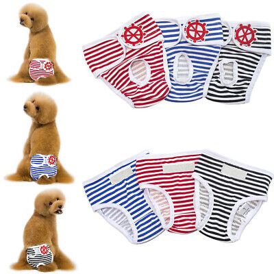£4.79 • Buy Cute Female Pet Dog Physiological Pants Sanitary Nappy Diaper Shorts Underwear