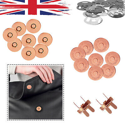 Magnetic Snap Fasteners Buttons Clasp Closure For DIY Leathercrafts Bags 14/18mm • 2.59£