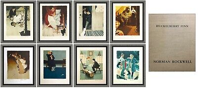 $ CDN19512.11 • Buy Norman Rockwell Huckleberry Finn Folio Complete 8 Lithograph Set Hand Signed Art