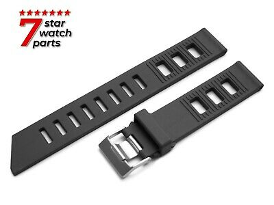 FOR OMEGA WATCH BLACK 20mm Rubber Watch Strap Band Buckle Clasp SeaMaster +Pins • 17.50£