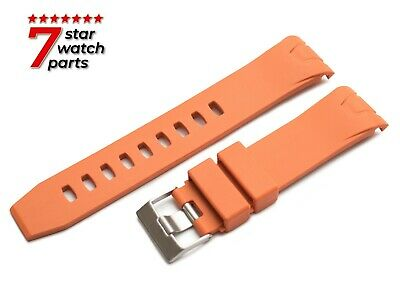FOR OMEGA WATCH ORANGE 22mm Rubber Watch Strap Band Buckle Clasp SeaMaster +Pins • 17.50£