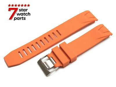 FOR OMEGA WATCH ORANGE 20mm Rubber Watch Strap Band Buckle Clasp SeaMaster +Pins • 17.50£