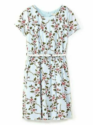 House Of Fraser Yumi Girls Dress Party Frock 8 9 - 10 Years Floral Belted L Blue • 11.99£