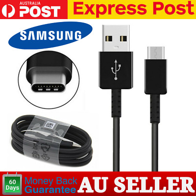 AU5.75 • Buy Genuine Samsung S10 S9 8 Plus Note 9 8 Type C USB C Charging Fast Cable BLACK