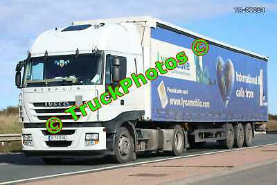 £0.99 • Buy Truck Photo TR-00084 Iveco Stralis Reg:- B7415HK Op:- Lycamobile M20 Dover Lorry