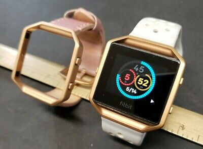 $ CDN68.33 • Buy Fitbit Blaze  Fb502 Activity Tracker 2 Bands Rose Gold Pink White
