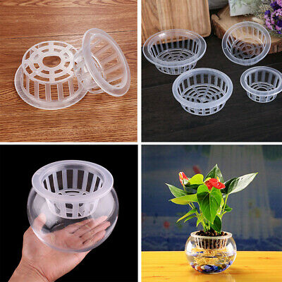 $ CDN4.21 • Buy Tray Flower Pot Plant Culture Blue Plastic Mesh Net Cloning Plants Growth-