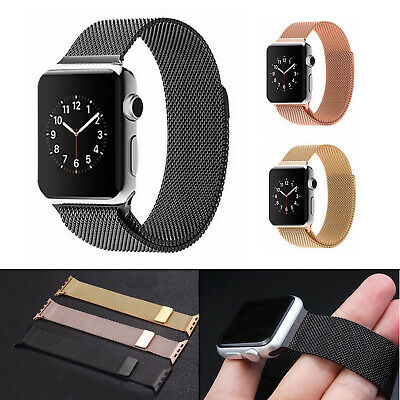 AU2.99 • Buy For Apple Watch Series 5 4 3 2 1 Stainless Steel Milanese Strap Band  42  38