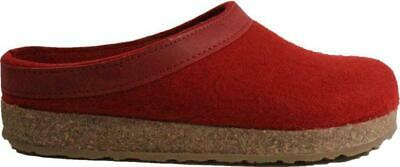 Haflinger Grizzly Red Wool Unisex Slip On Mule Slippers • 63.99£