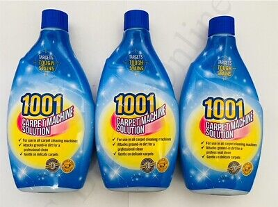 3 X 1001 Carpet Shampoo For All Cleaning Machines 500ml • 8.99£