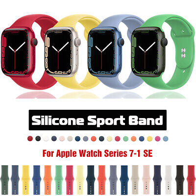 $ CDN5.20 • Buy 40/44/38/42mm Silicone Sport Band Strap For Apple Watch Series 6 5 4 3 IWatch SE