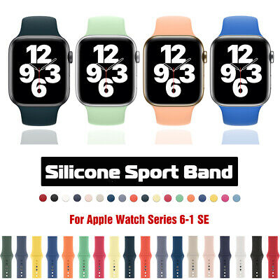 $ CDN5.37 • Buy Silicone Sports IWatch Band Strap For Apple Watch 40/44mm 38/42mm Series 5 4 3 2