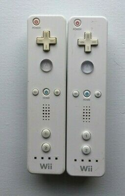$ CDN43.43 • Buy Lot Of 2 Nintendo Wii Remote White Controllers Official Tested Working RVL-003