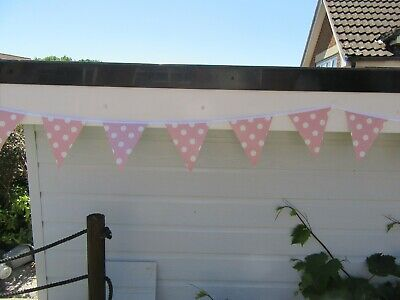 £6 • Buy PVC POLKA DOT GARDEN BUNTING IN SINGLE COLOURS 10ft Approx 3mtrs