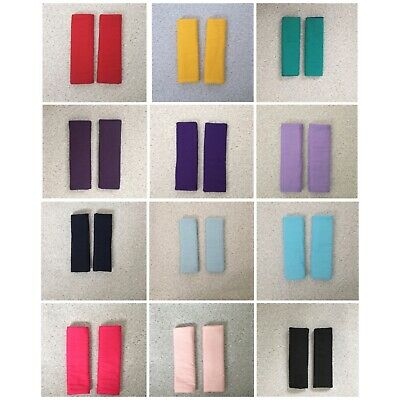 £6 • Buy Pram Slide On Harness Strap Covers Red Yellow Green Purple Blue Pink Black