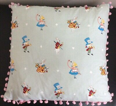 Handmade Sophie Allport Alice In Wonderland  Cushion Cover With Pink Velvet. • 15£