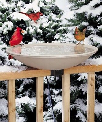 New Heated Deck Mounted Bird Bath Allied Precision Stone Colored  • 67.85£