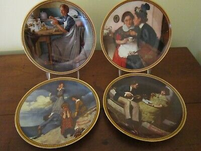 $ CDN30.08 • Buy 4 Norman Rockwell Rediscovered Women  Knowles Collector Plates