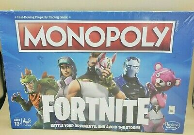 $10.99 • Buy 2018 Hasbro Monopoly Fortnite Blue 1st Edition Board Game Mint Sealed!