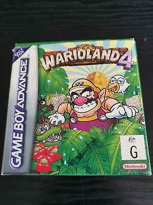 AU59 • Buy Wario Land 4 Gameboy Advance Nintendo Game (GBA)