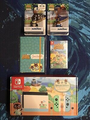 $ CDN1341.16 • Buy Nintendo Switch Animal Crossing Special Edition Bundle! Notebook Game And Amibos
